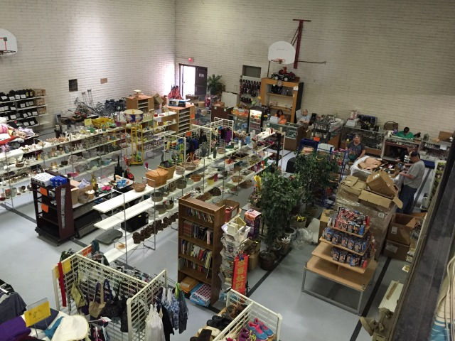 Mercy Hill's thrift store ministry has overrun the gymnasium.