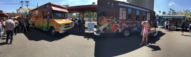 We paused on the tour long enough to partake of Food Truck Friday, an incredible gathering of culinary delight. Such. Good. Food!