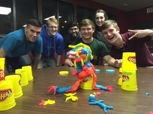 Students competed to produce their own monsters during a break as we talked about the 'Green-eyed Monster' of jealousy from the Bible.