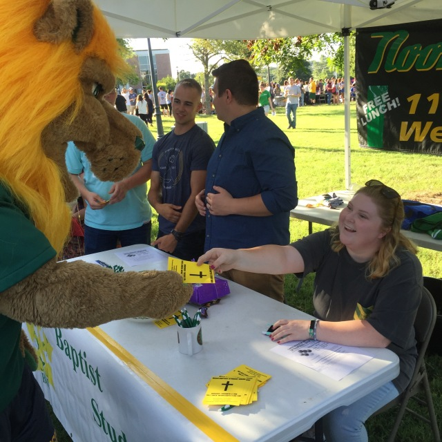 Even Roary turned out for Welcome Week festivities.
